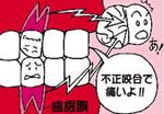 (2) 歯が強くあたり痛くなる